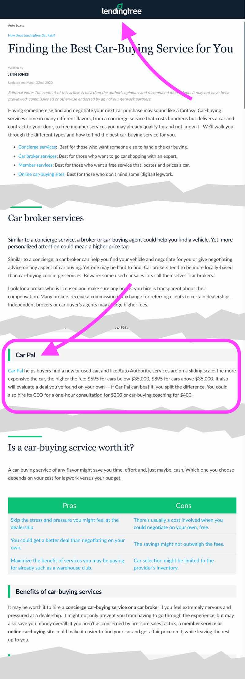LendingTree: Finding the Best Car-Buying Service for You